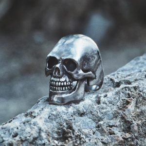 Heavy Biker Skull Ring