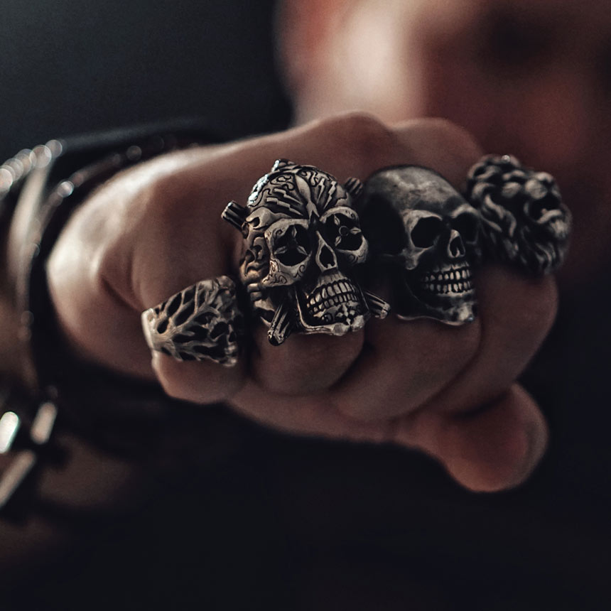 Image result for skull ring