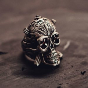 Mexican Skull Men's Ring
