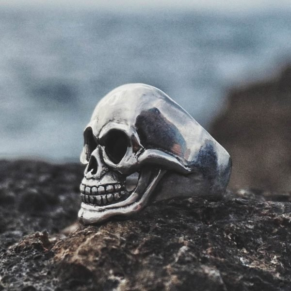 Polished Skull Ring