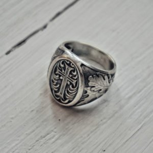 Silver Cross Men Ring