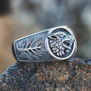 House of stark wolf ring
